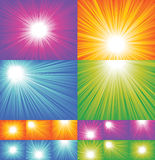 Sunbeam backgrounds collection Stock Photo