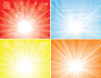 Sunbeam backgrounds collection Stock Photos