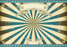 Sunbeam blue retro background. A vintage horizontal poster with a blue sunbeam for you Royalty Free Stock Images