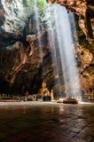 Sunbeam in buddha cave, Tham Khao Luang near Phetchaburi,Thailan Stock Photo
