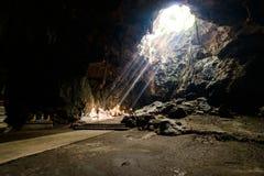 Sunbeam in buddha cave, Tham Khao Luang near Phetchaburi,Thailan. Sun Light, Sunbeam in buddha cave, Tham Khao Luang near Phetchaburi,Thailand stock photos