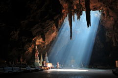 Sunbeam in cave Stock Photo