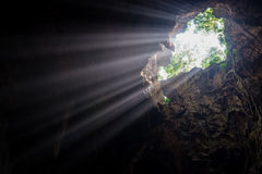 Sunbeam in the cave Royalty Free Stock Image