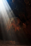 Sunbeam into the cave Royalty Free Stock Photos