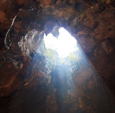 Sunbeam into the cave Royalty Free Stock Photo