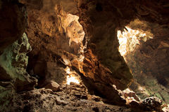 Sunbeam into the cave Royalty Free Stock Image