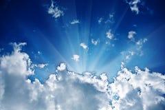 Sunbeam in the cloud Stock Photo