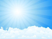 Sunbeam and clouds Royalty Free Stock Images