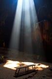 Sunbeam dans la caverne Images libres de droits