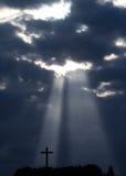 Sunbeam e cruz Imagem de Stock