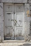Old abandoned doors in the old town stock image