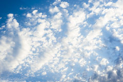 Sunbeam  through the haze on blue sky: can be used as background and dramatic look, Stock Photos