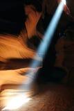 Sunbeam i antilopkanjon Arkivfoton
