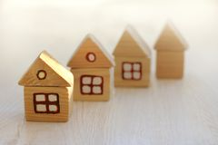 Individual housing ready to move Stock Photos