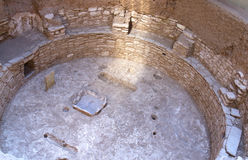 Sunbeam in Kiva Pit House in Mesa Verde National P Royalty Free Stock Image
