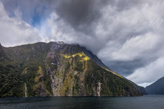 Sunbeam At Milford Sound Royalty Free Stock Photo