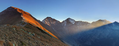 Sunbeam in mountain West Hight Tatra Stock Photography