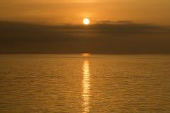 Sunbeam odbijający morze Obrazy Stock