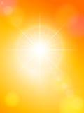 Sunspot and orange sky Royalty Free Stock Photography