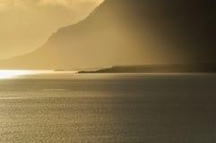 Sunbeam przy morzem fotografia royalty free