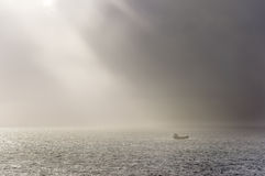 Sunbeam in the sea Royalty Free Stock Photography