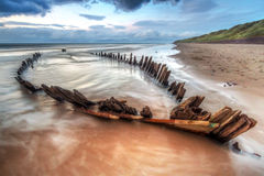The Sunbeam ship wreck on the beach Stock Photos
