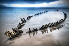The Sunbeam ship wreck on the beach Stock Photo