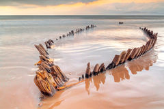 The Sunbeam ship wreck on the Rossbeigh beach Stock Image