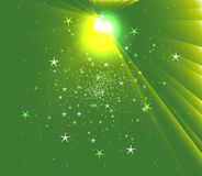 Sunbeam Star vector green background Royalty Free Stock Photography