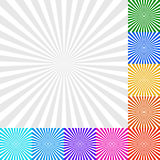 Sunbeam, Starburst - Sunburst Background Set. 9 Colors and a Mon. Eps 10 Vector Illustration of Sunbeam, Starburst - Sunburst Background Set. 9 Colors and a Stock Images