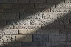 Sunbeam on a stone wall Stock Image