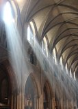 Rays of sun in a cathedral Royalty Free Stock Photography