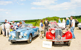 Sunbeam Talbot cars; National Rally in Inverness. Royalty Free Stock Image