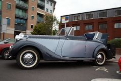 Sunbeam Talbot convertible soft top Stock Photo