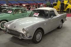 Sunbeam tiger. Front side view of sunbeam tiger convertible in display during the autorama montreal september 16-17 2017 Royalty Free Stock Photos