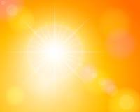 Sunbeam und orange Himmel stock abbildung