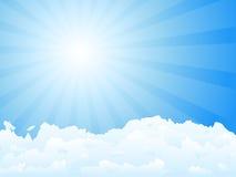 Sunbeam und Wolken lizenzfreie abbildung