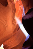 Sunbeam in Upper Antelope Canyon, Page, Arizona Stock Photography