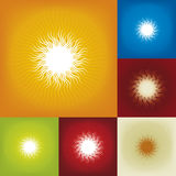 Sunbeam (vector). Illustration of sunbeam background, with variations (vector royalty free illustration