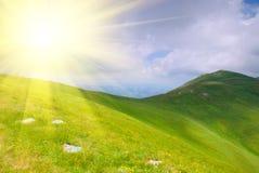 sunbeams гор холмов Стоковые Фотографии RF