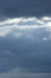 sunbeams унылого моря cloudscape небольшие Стоковое Изображение RF