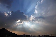 Sunbeams Imagem de Stock