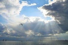 sunbeams Stock Foto's