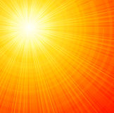Sunbeams abstract vector illustration background Stock Photography