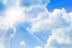 Sunbeams brilhantes Fotografia de Stock Royalty Free