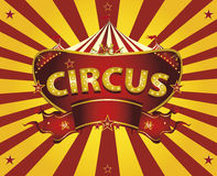 Sunbeams circus card. A circus  greeting card with sunbeams for your entertainment Royalty Free Stock Image