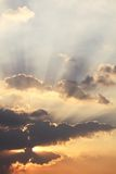 Sunbeams and clouds. Fantasy beautiful sunbeams and clouds Stock Photo