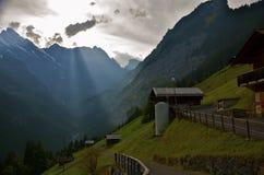 sunbeams dolinni Zdjęcia Stock