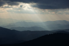 Sunbeams Great Smoky Mountains Stock Images