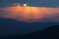 Sunbeams Great Smoky Mountains Stock Photo